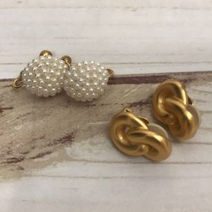 Clip on earrings from Napier and Ann Klein